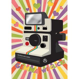 Zapz Valentine's Card Retro Polaroid Camera Personalised Augmented Reality Greetings