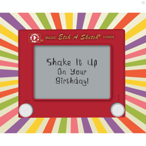 Zapz Birthday Card Retro Etch-A-Sketch Personalised Augmented Reality Greetings Cards