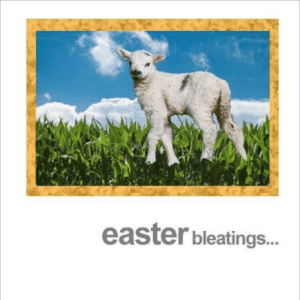 Easter Bleatings Lamb Greeting Card