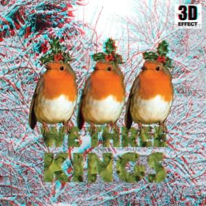 CHRISTMAS 3D Greeting Card Robins We Three Kings