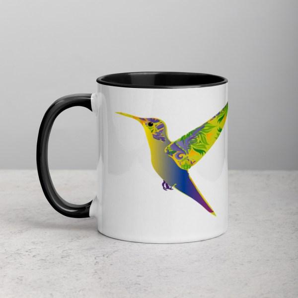 Mug White/Black Humming Birds