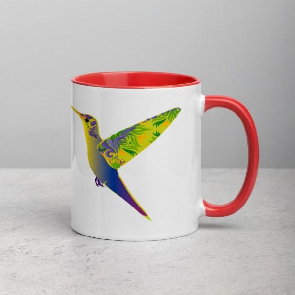 Mug White/Red Humming Birds