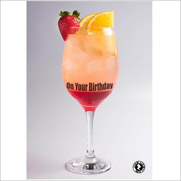 cocktail glass AR Greeting Card