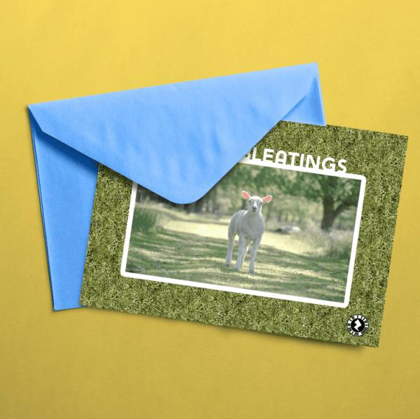 Easter Bleatings AR Greeting Card