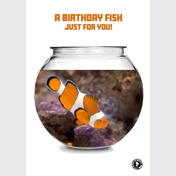 Birthday Fish AR Greeting Card