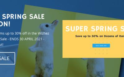 Wizhez Super Spring Sale!