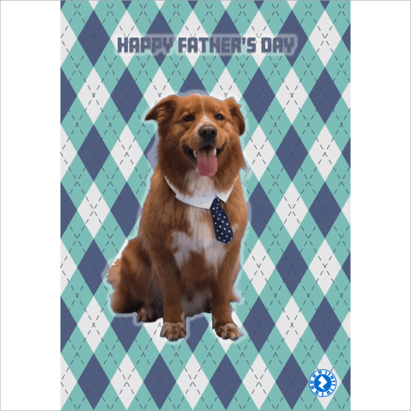 Dog and Tie Fathers Day Card