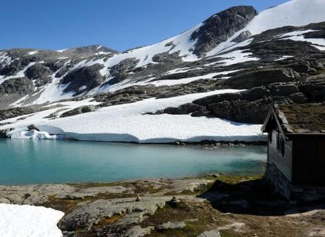 gdzieś przy drodze Gamle Strynefjellsvegen