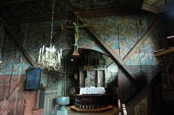 wnętrze kościółka w Røldal