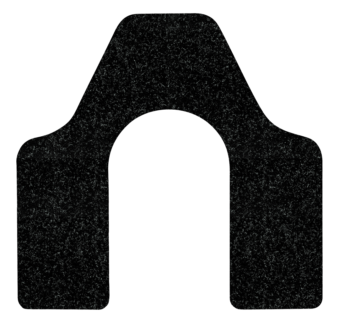 Black WizKid Products Antimicrobial Commode Mat