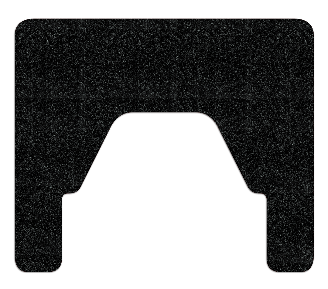 Black WizKid Products Square Nose Floor Mount Antimicrobial Urinal Mat