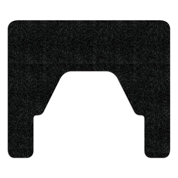 Black WizKid Antimicrobial Square Nose Floor Mount Urinal Mat from WizKid Products