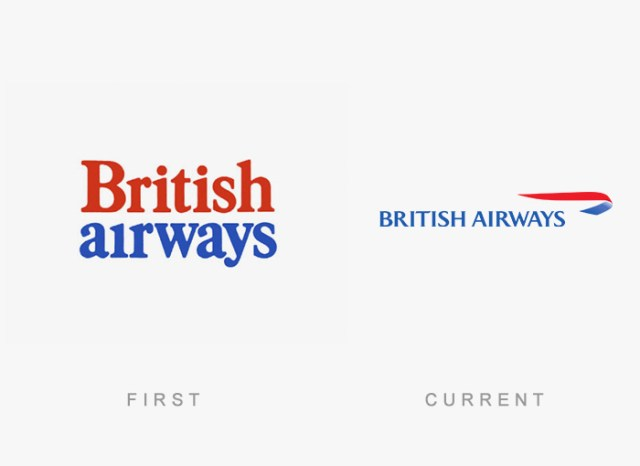 British Airways old and new logo