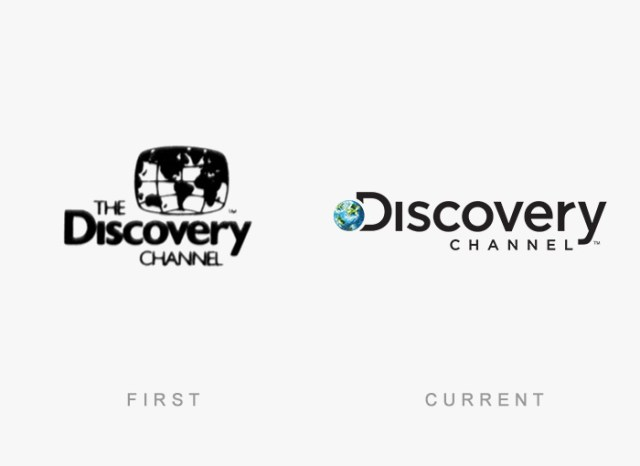 Discovery Channel old and new logo