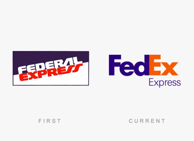Fedex old and new logo