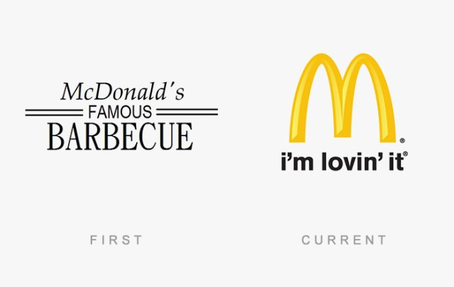 Mcdonald's old and new logo