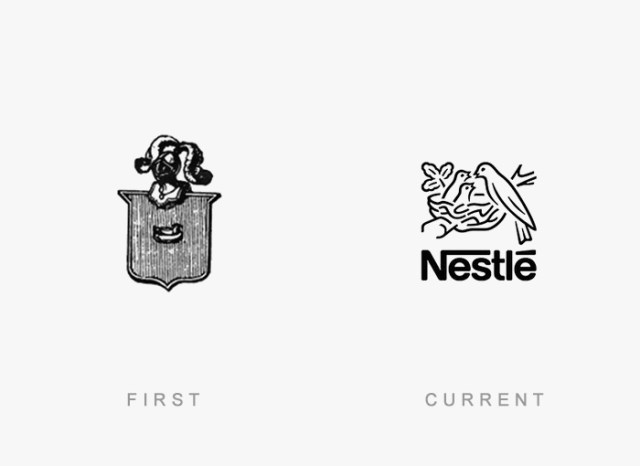 Nestle old and new logo