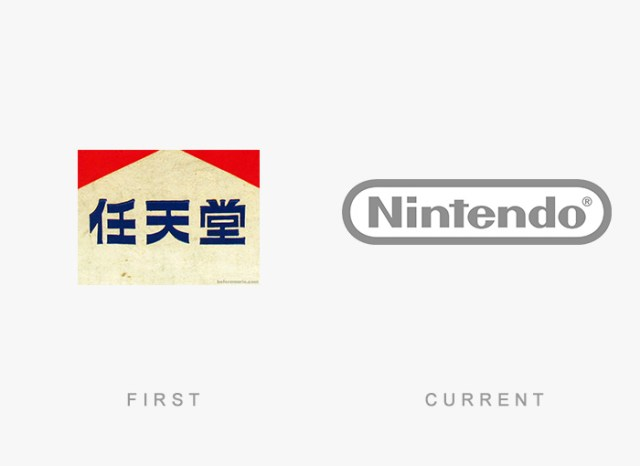Nintendo old and new logo