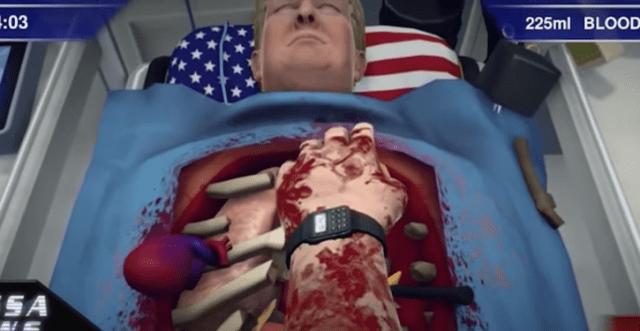 Operate on Donald Trump with Surgeon Simulator