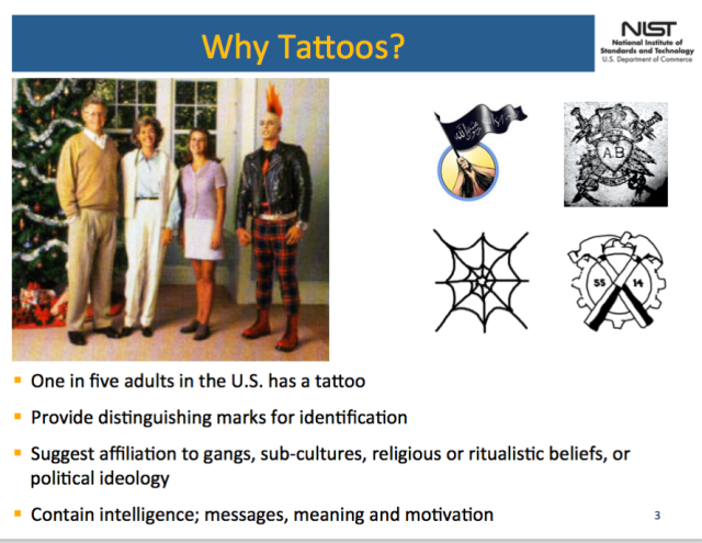 The FBI is working on a tattoo tracking system that has privacy groups up in arms 2