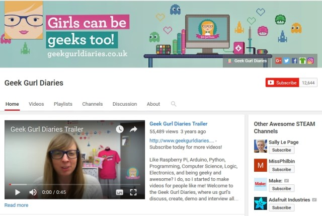 Geek Gurl Diaries Youtube Channel