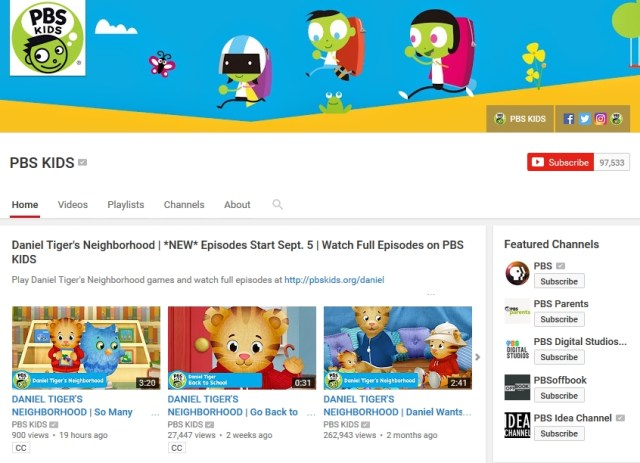 PBS Kids YouTube Channel