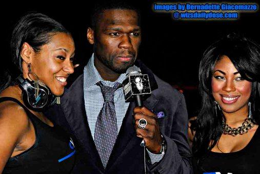 50 Cent & the Nikki Rich Models.Bernadette Giacomazzo.thewizsdailydose copy
