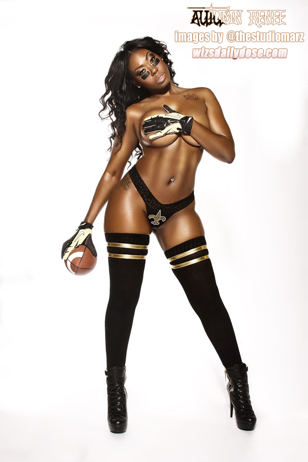 Autumn Renee reppin the New Orleans Saints images by Studio MARZ 003 wizsdailydose.com