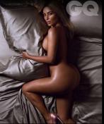 Kim Kardashian Goes Totally Nude as British GQ's Woman of the Year 001