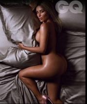 Kim Kardashian Goes Totally Nude as British GQ's Woman of the Year 001