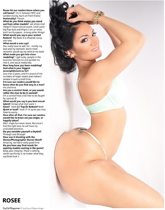 Rosee Shygirl Magazine 001 steven ward.wizsdailydose.com