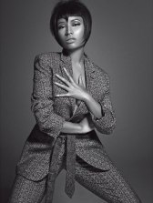 Nicki-Minaj-shirt-and-tie-003-L'Uomo-Vogue-Italia-wizsdailydose.com