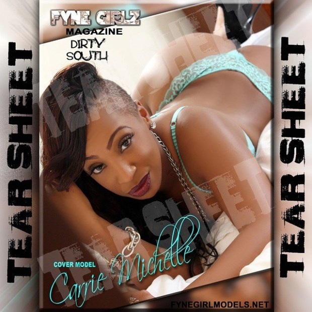Carrie Michelle fynegirlz magazine tearsheet