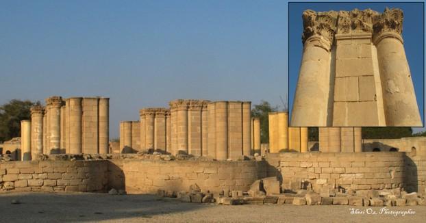 Columns in Hisham's Water Palace, Jericho