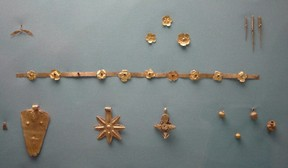 Jewelry from an archeological site in Gaza