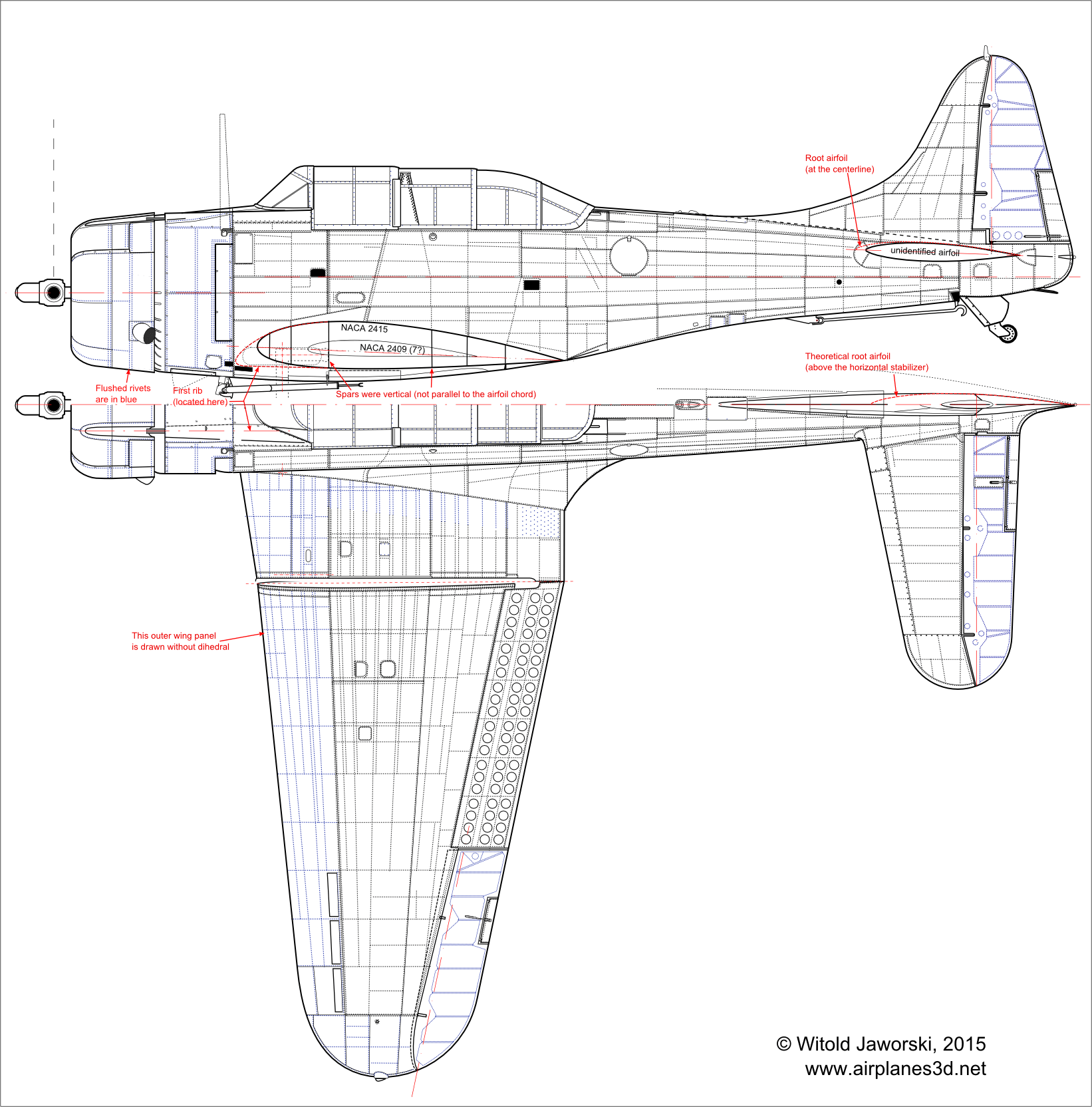 How Did I Draw The Top View Of The Sbd Dauntless