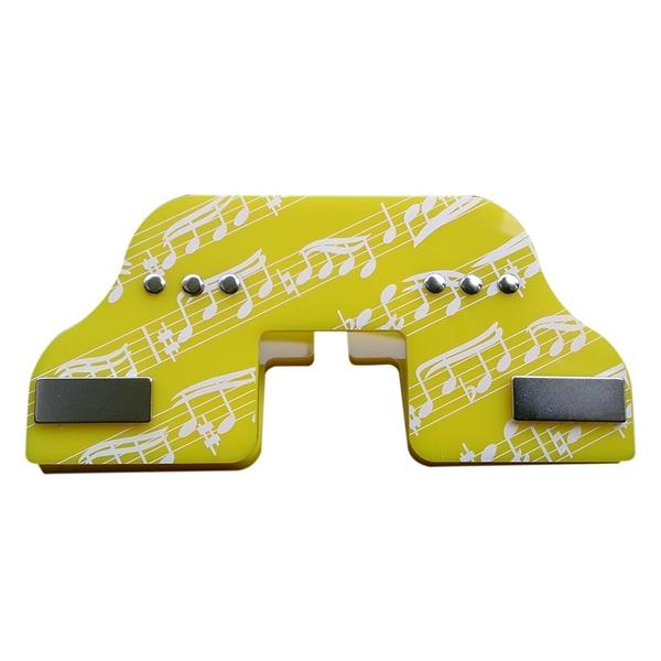 多功能譜夾神器(黃)+附贈心型文件夾1組:【外攜式 看書夾】專利商品