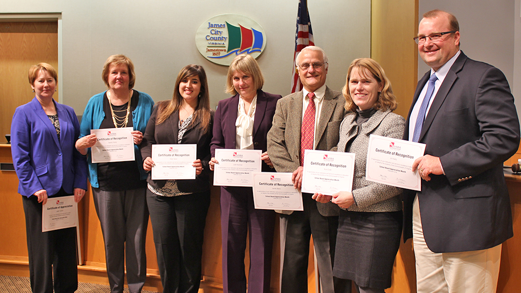 WJCC School Board Recognized for Leadership & Commitment to Quality Education