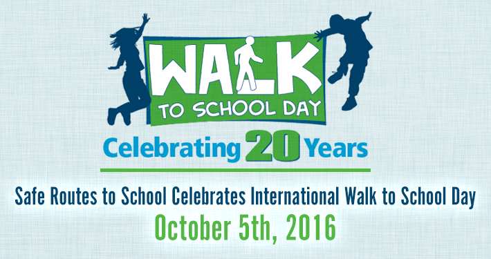International Walk to School Day - October 5th, 2016
