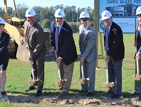 WJCC Breaks Ground for James Blair Middle School