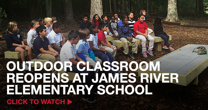 Outdoor Classroom Reopens at James River Elementary School – Watch Now