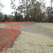 Earthwork in Sediment Pond