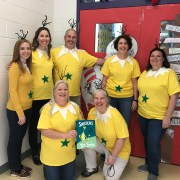 Fifth grade teachers dressed like star-bellied Sneetches