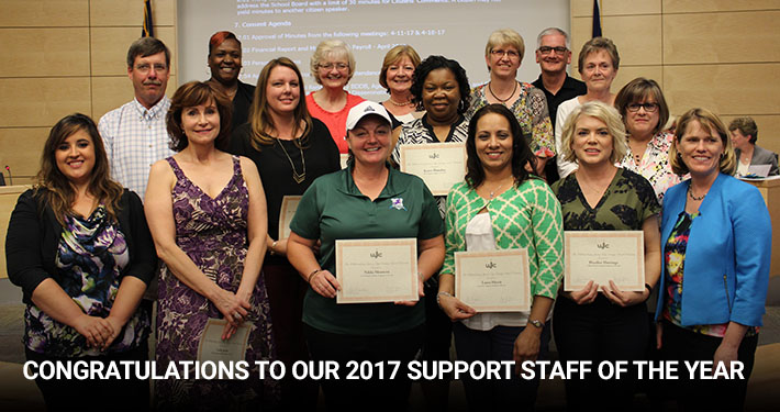 Congratulations to our 2017 Support Staff of the Year
