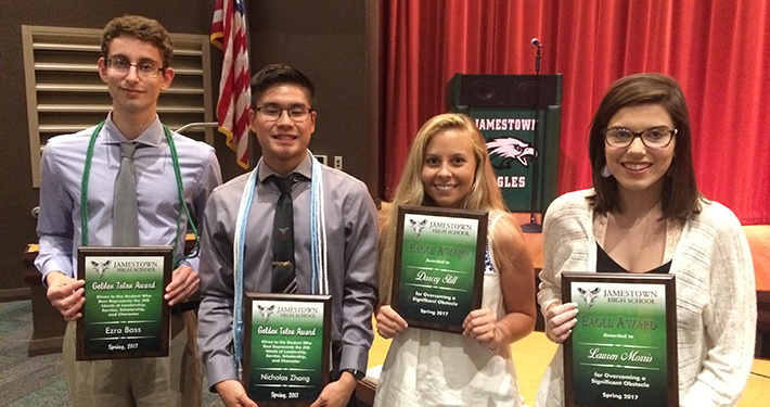 JHS Eagle Award Winners for 2017