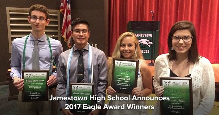 Jamestown High School Announces 2017 Eagle Award Winners