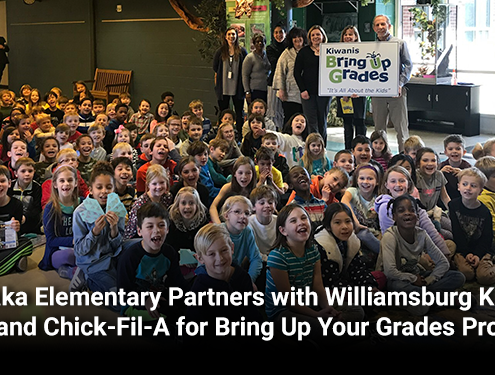 Matoaka Elementary Partners with Williamsburg Kiwanis Club and Chick-Fil-A for Bring Up Your Grades Program