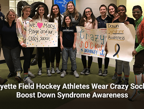 Lafayette Field Hockey Athletes Wear Crazy Socks to Boost Down Syndrome Awareness