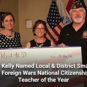 Kelly Ann Kelly Named Local & District Smart:Maher Veterans of Foreign Wars National Citizenship Education Teacher of the Year