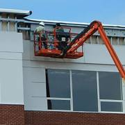 Exterior composite metal panels